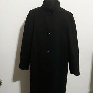 Jacqueline Ferrar Black 100% Wool Winter Jacket